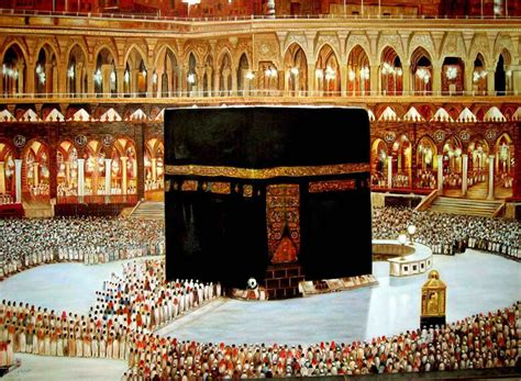 holy kaaba  mecca painting effect islamic canvas wall