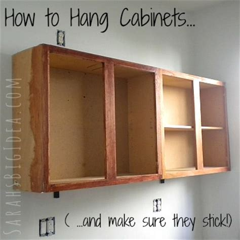 how to hang kitchen cabinets how to hang cabinets sarah 39 s big idea