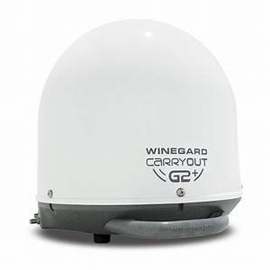 Winegard Carryout G2 Plus Portable Satellite Antenna, White - Winegard GM-6000 - Satellite ...