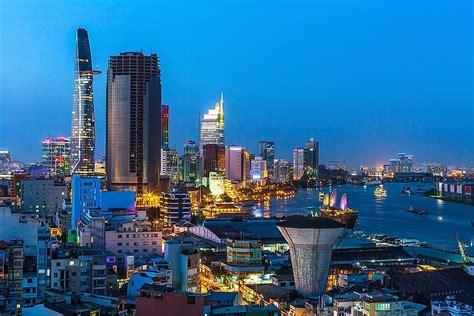 biggest cities  vietnam worldatlascom