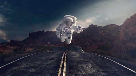Download Wallpaper 2560x1440 Astronaut Gravity Road