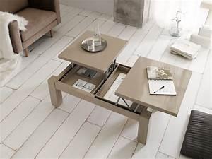 Table De Salon Transformable : tables basses table basse relevable et vison latablebasse ~ Teatrodelosmanantiales.com Idées de Décoration