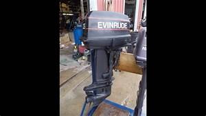 6m3485 Used 1985 Evinrude E25rcos 25hp 2