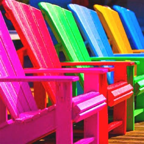 bright colored lawn chairs color glorious color