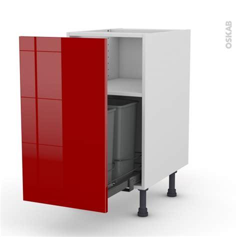 porte de meubles de cuisine meuble de cuisine poubelle coulissante stecia 1 porte l40 x h70 x p58 cm oskab