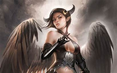 Devil Angel Fantasy Woman Wallpapers Desktop Backgrounds