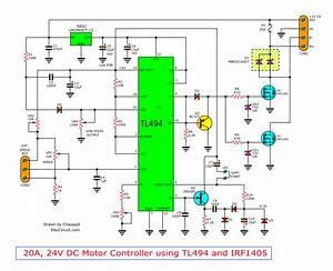 12v Dc Motor Speed Control Pwm Circuit Using Tl494