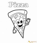 Pizza Coloring Sheet Date sketch template