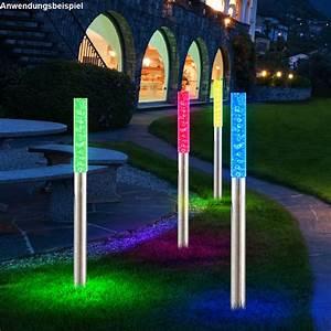 Leuchten Für Den Garten : 8er set rgb led solarleuchten mit farbwechsel f r den garten ~ Sanjose-hotels-ca.com Haus und Dekorationen