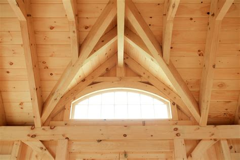 authentic post beam     shed