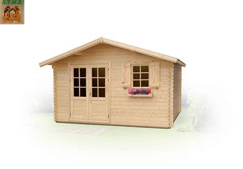 bureau de jardin en kit chalet bois de jardin modèle raisin 14 en madriers de 44 mm