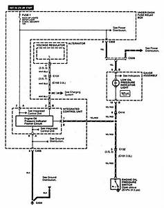 Acura Cl  1997 - 1999  - Wiring Diagrams - Oil Warning