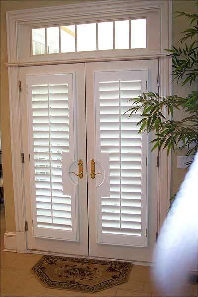 patio door plantation shutters for the home