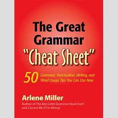 "Bigwords101 — The Great Grammar ""cheat Sheet"""