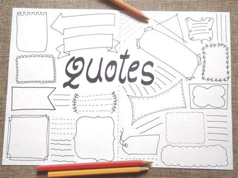 printable bullet journal quotes blank boxes planner layout