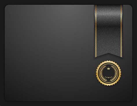 atmospheric black fashion design certificate honor