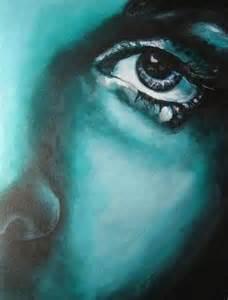 Monochromatic Acrylic Portrait Painting