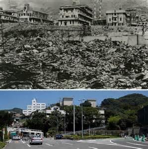 Hiroshima and Nagasaki After Atomic Bomb