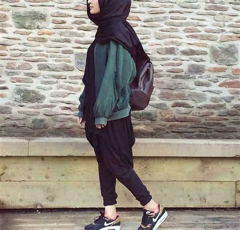 sporty hijab casual hijab lazy hijab  sneakers
