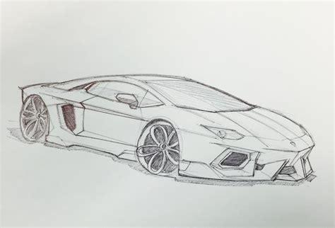 lamborghini aventador sketch loewe auto zeichnen auto