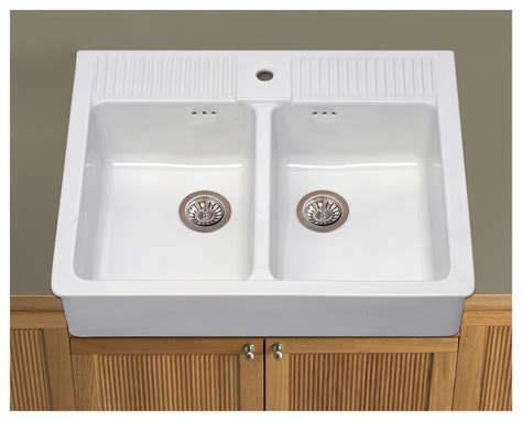 domsj 214 double bowl sink traditional utility room sinks