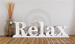 relax stock photo image 46710677 With relax letters