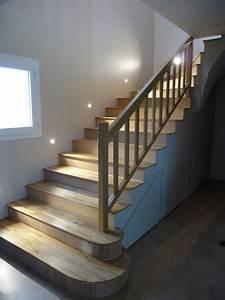 Habillage Escalier Bois : habillage escaliers menuisier bordeaux cdrm ~ Dode.kayakingforconservation.com Idées de Décoration