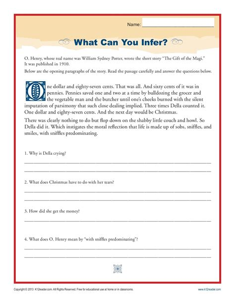worksheet inference worksheets 4th grade worksheet