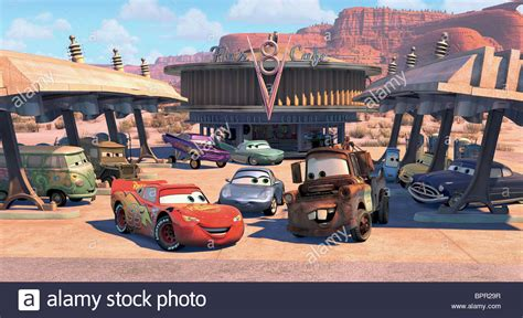 cars sarge and fillmore fillmore sarge lightning mcqueen ramone flo sally carrera