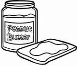 Butter Peanut Coloring Sandwich Jelly Bread Drawing Sheets Tablero Seleccionar Getdrawings Colorear Para sketch template