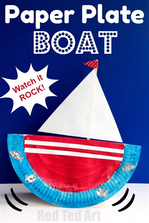 rocking paper plate boat ted 126 | Rocking boat