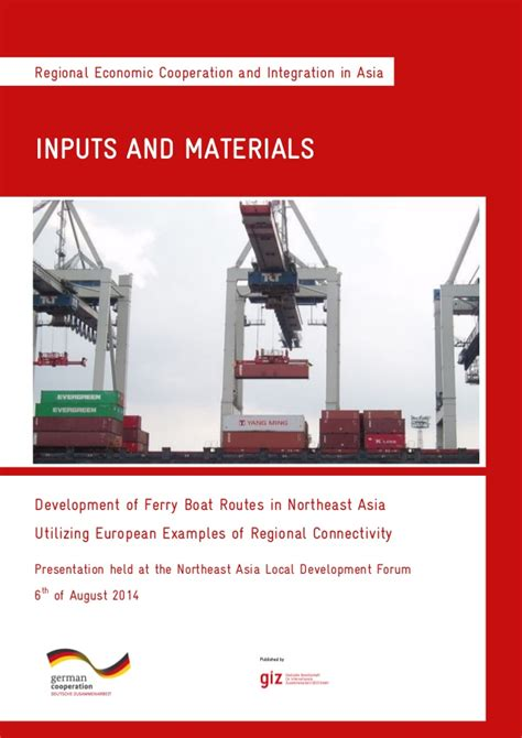 Ferry Boat Developments by Development Of Ferry Boat Routes In Northeast Asia