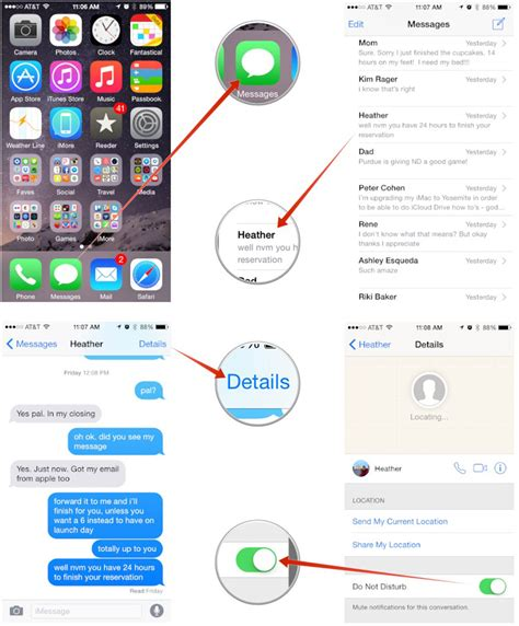 what is the moon icon on my iphone how to quickly mute message threads with ios 8 imore