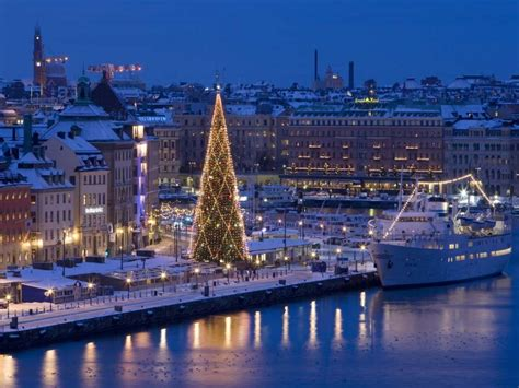 coloured lights christmas tree easy escapes christmas in stockholm sweden