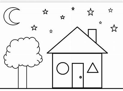 Coloring Pages Shape Shapes Tree Printable