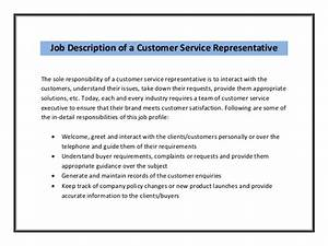 customer service resume sample With customer service representative job description resume