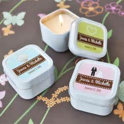 personalized wedding gifts for de villas wed candle wedding favors