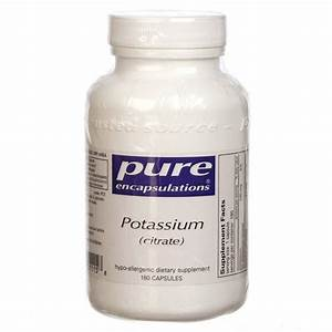 Pure Encapsulations Potassium Citrate - 180 Capsules ...