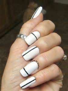 Easy and simple black white nail designs g