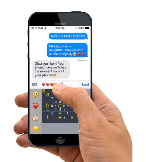 messaging iphone messagease the smartest touch screen keyboard