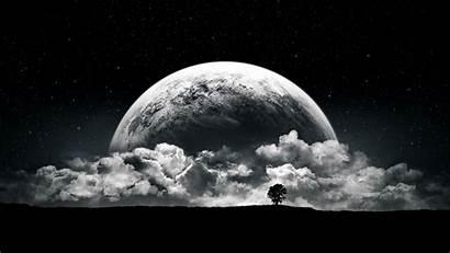 Moon Stars Clouds Night Planet Desktop Wallpapers