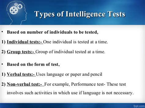 Test Intelligenze by Intelligence Tests 01