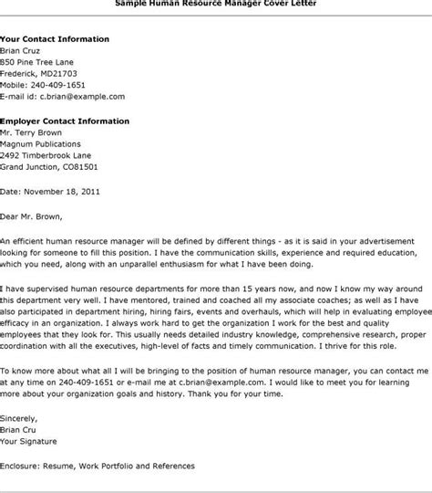 sample cover letters  hr lcodecom