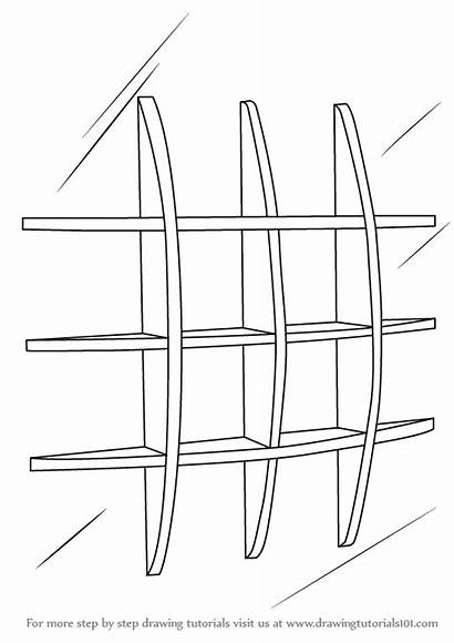 Draw Shelves Wall Drawing Shelf Step Drawings