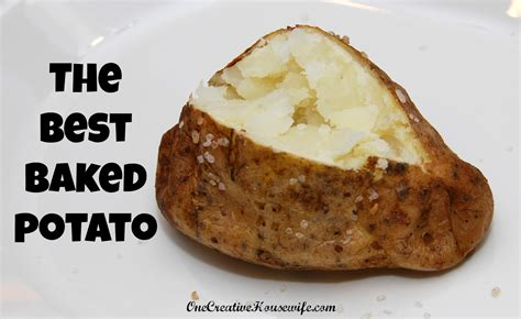 baking a potato one creative housewife the best baked potato