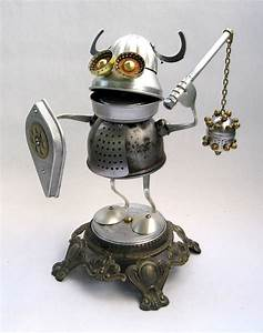 Alrik - Found Object Robot Assemblage Sculpture by Brian M ...
