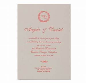 luxury letterpress pink laurel day invitation with With wedding invitation printing cardiff