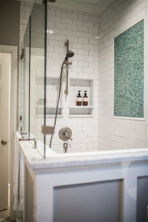blue  gray bathroom features  walk  shower