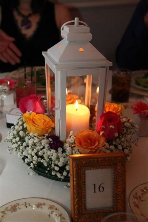 lantern wedding centerpiece set   mirror  glass