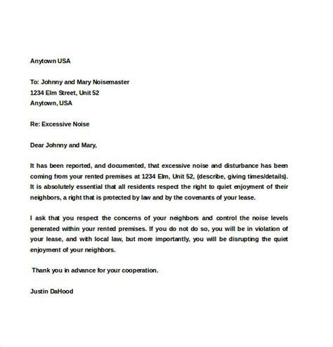 noise complaint letter template   word